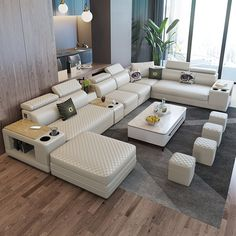 Tufted Sectional, Large Sectional, Modern Sectional, Leather Sectional, Living Room Sets, Bedroom Sets, Living Spaces, Bedrooms, Modular Design