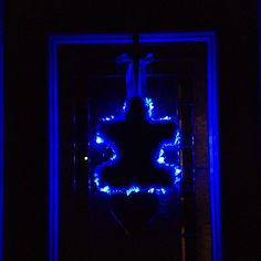 Light it up blue for autism door wreath that I made!
