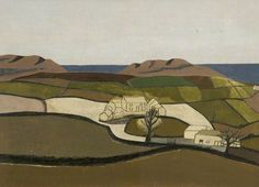 Ben Nicholson fields form patches of color all neatly divided but still representative of a landscape familiar to the artist. Abstract Landscape, Landscape Paintings, Abstract Art, Abstract Painters, Matisse, Hesse, Modern Artists, Art Uk, Your Paintings