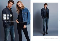Mavi enlists models Ben Bowers and Megan Williams to showcase styles from its fall-winter 2018 range.