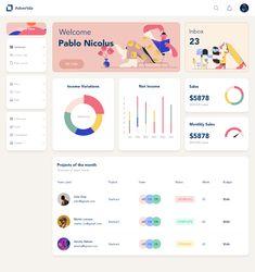 Dashboard on Behance Web Dashboard, Ui Web, Dashboard Design, Web Design, Web Banner Design, Web Banners, Flat Design, Street Marketing, Guerilla Marketing