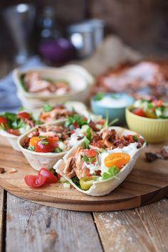 Pulled Lachs Tortillas mit frischer Salsa - Pulled Salmon Tacos   Das Knusperstübchen