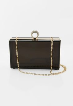 SMOKE LUCITE BOX BAG