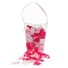 Echte Rosenblätter in einem Mix aus Pinktönen als dekoratives Highlight auf der Hochzeitsfeier oder als Dekoration für die Candy Bar
