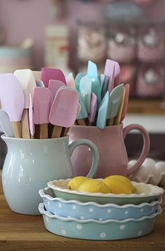 Beautiful Baking Goodies This looks so cute, but I would have many different things in different colours.