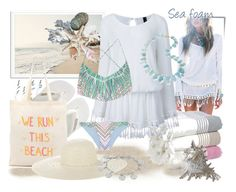 """Sea foam"" by tasha1973 ❤ liked on Polyvore featuring Post-It, Dot & Bo, Havaianas, IGH, Zhuu, Jennifer Ouellette, Karen Kane, LJD Designs and Mara Hoffman"