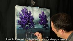 The Reach of Deep Purple a time lapse acrylic landscape tree painting by Tim Gagnon. learn how to paint this paintingfrom start to finish: http://www.timgagnon.com/shop/online-lessons/the-reach-of-deep-purple-an-online-painting-lesson/