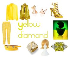 """Yellow Diamond Closet Cosplay"" by thecrystalheart on Polyvore featuring STELLA McCARTNEY, Donna Karan, Raoul, Steve Madden and Marina B"