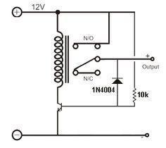 relay driver circuit ELECTRONICS Circuit, Electronic