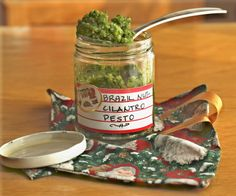 Brazil Nut Pesto - good in pasta, soups, or as an appetizer on crackers. #vegan