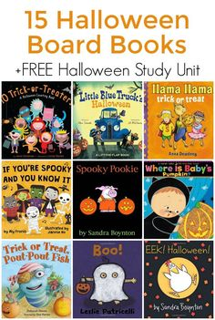 Halloween Board Books for Todders (+ a FREE Halloween Study Unit!)