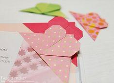 Style Cookbook by Simone: DIY Origami Heart Bookmark