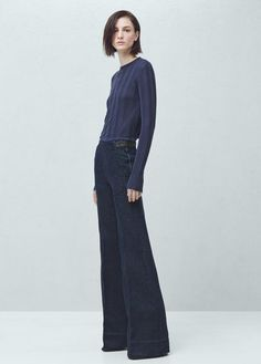 Premium - flare denim trousers | MANGO