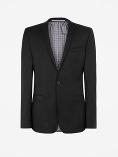 Plain Twill Camden fit Suit Jacket | Jet Black | Ben Sherman