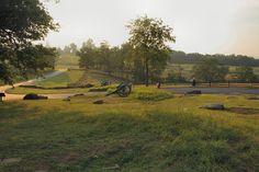 McPherson's Ridge Battle Of Gettysburg   Civil War Gettysburg Battlefield Vacation Photographs - Cannon at ...