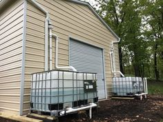 This post goes over a large rainwater harvesting system that is even bigger than the one posted last week called DIY Rainwater Collection System. This system catches and stores up to 1200 gallons o… Water From Air, Rainwater Harvesting System, Greenhouse Plans, Water Storage, Parc National, Water Conservation, Water Systems, Cool Plants, Urban Survival