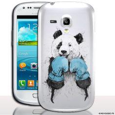 Coque Samsung Galaxy s3 mini Panda Sportif. #Coque #Panda #S3 #Mini #Boxe