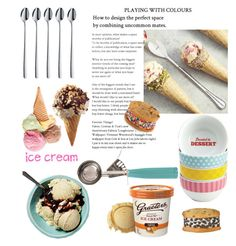 """""""ICE CREAM TREATS"""" by indhrios ❤ liked on Polyvore featuring interior, interiors, interior design, home, home decor, interior decorating, WMF, Cake Boss, Parlor and Iscream"""