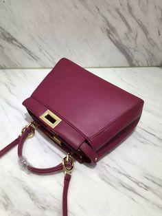 Fendi peekaboo burgundy mini shoulder bag #essential