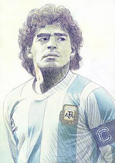 "Tschutti Heftli 2018 Contest ""Ho visto Maradona"" on Behance Football Art, Football Players, Diego Armando, Messi, Action Poses, Best Player, Graphic Design Art, World Cup, Illustration"