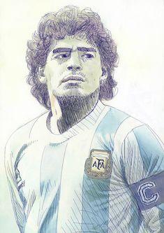 """Tschutti Heftli 2018 Contest """"Ho visto Maradona"""" on Behance Football Icon, Football Art, World Football, Football Players, Mohamed Ali, Maradona Tattoo, Maradona Football, Escudo River Plate, Football Wallpaper Iphone"""