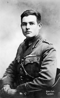 Hemingway was wounded by an Austrian mortar shell at the Italian front on July 7th, 1918. Though hit with 227 pieces of shrapnel, he pulled a wounded Italian soldier to safety, and was later awarded a medal for bravery by the Italian army. He was a non-combatant, charged with delivering rations before the shell hit, and felt that he did not deserve the honor.  For more, check out ERNEST HEMINGWAY: A NEW LIFE: http://www.psupress.org/books/titles/978-0-271-07534-1.html #Hemingway