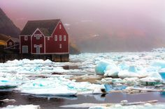 Ice in Trinity Harbour . Pork shed of Rising Tide Theatre in the wings . Newfoundland Canada, Newfoundland And Labrador, Atlantic Canada, Prince Edward Island, New Brunswick, Historical Society, Nova Scotia, Sheds, Barns