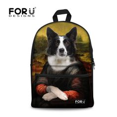 New Funny Animal Backpack Travel Rucksack School Bag Satchel Jan Sport Bags #ForUDesigns #Bookbag