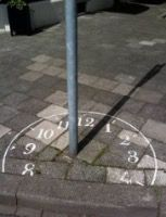 Sundial in Maastricht, Netherlands. I had this exact idea but someone beat me to it. Would be interesting to create street art installations using shadows though. You could use traffic signs and other urban objects to create fun art. Land Art, Art Public, Public Spaces, Funny Drawings, Sundial, Wow Art, Street Art Graffiti, Graffiti Artists, Guerrilla