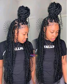 braids with curls goddess bohemian box braids Box Braids Medium Length, Short Box Braids, Blonde Box Braids, Braids With Curls, Braids For Black Hair, Girls Braids, Jumbo Box Braids, Styles With Box Braids, Crochet Box Braids Medium