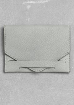 Leather Card Holder | Powder Grey | Other Stories