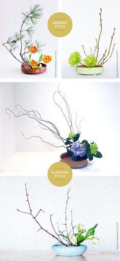 IKEBANA BASICS- clikc through for a basic run through on this Japanese form of flower arranging via www.surelysimple.com