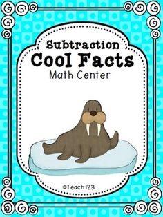 Subtraction Math Center - Cool Facts