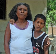 Afro-Mexican mother with her son. [Photo by Bobby Vaughn. Mexico.]