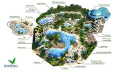 An overview of the Subtropical Swimming Center. A completely FREE activity for the whole family to enjoy, every day! #CPFamilyBreaks
