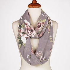 Taupe Floral Infinity Scarf- from World Market! I LOVE!