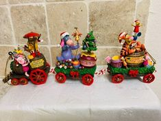 Bradford Exchange Disney, Train Ornament, Winne The Pooh, Mermaid Tale, Disney Collectibles, Hobbies And Interests, Disney Home, Hand Cast, Happy Thanksgiving