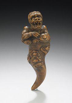 Netsuke: Futen, the storm spirit    Japan, 18th century    The Los Angeles County Museum of Art