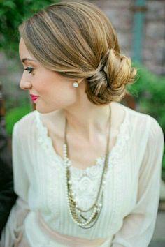 Hair bun wedding