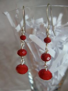 Deep Red Tiered Crystal Drops by ktm1353 on Etsy