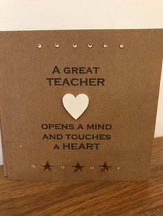 Thank You Teacher Card A Great Teacher Button Art Design