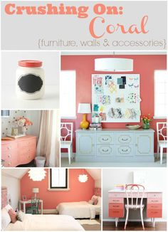 Crushing on: Coral {furniture, walls and accessories}