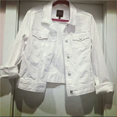 Denim Jacket White denim jacket. Could fit either a M or L. In like new condition. The Limited Jackets & Coats Jean Jackets