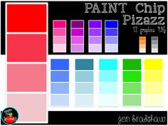FREEBIE!  Paint chip clip art ~ free for personal or commercial use.  Please see terms to use clipart.  #freebie #clipart