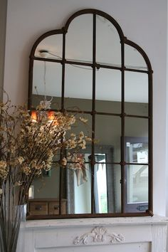 Ebay Large French Inspired Iron Window Pane Wall Mirror