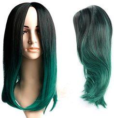 Diy-Wig Mid-Length Black Mixed Dark Green 2 Tone Trendy S... https://www.amazon.com/dp/B01LWYP6BE/ref=cm_sw_r_pi_dp_x_i6j5xb471YSX3