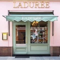 ImageFind images and videos about pink, shop and laduree on We Heart It - the app to get lost in what you love. Coffee Shop Design, Cafe Design, Store Design, Interior Design, Laduree Paris, Shop Fronts, Architecture, Shopping, Places