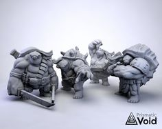 Tortle Ninja Fighters / Monks alternative for Dungeons &   Etsy Fantasy Setting, Tabletop Rpg, She Was Beautiful, Miniatures, Dungeons And Dragons, Ninja, 3d Printing, Alternative, Lion Sculpture