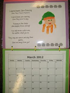 Handprint Calendar:  March poem (5)