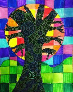les arbres multicolores